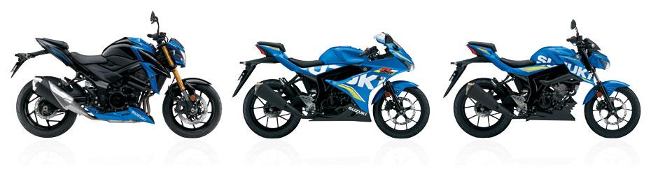 Motos GSX-S750, GSX-R125 et GSX-S125