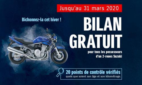 Bilan gratuit pour tous les possesseurs d'un 2-roues Suzuki