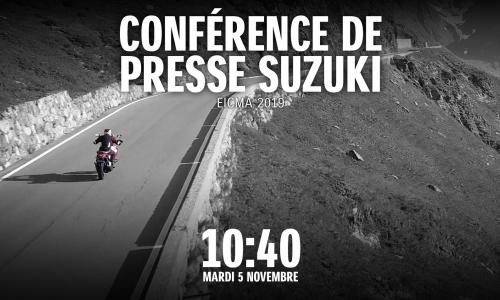 La conférence de presse Suzuki en Live Vidéo !