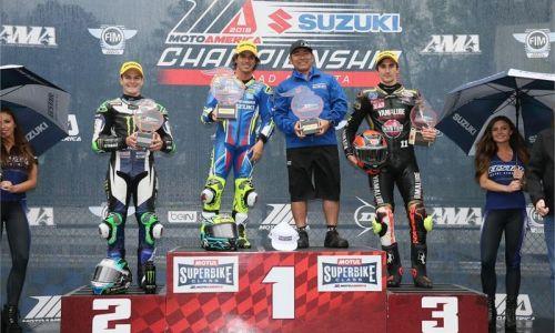 Elias et Yoshimura Suzuki dominent en MotoAmercia SBK