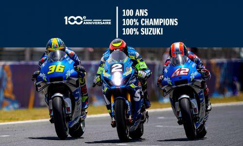 100 ans, 100% champions, 100% Suzuki