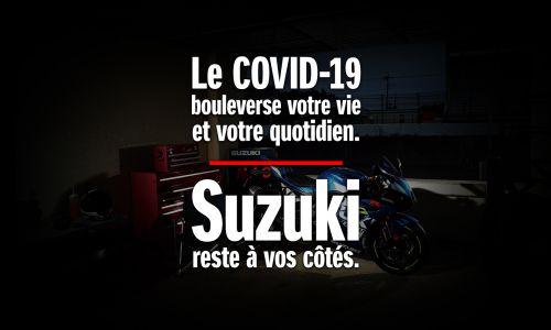Restez chez vous, Suzuki est à vos côtés