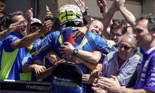 Andrea Iannone décroche son premier podium avec Suzuki