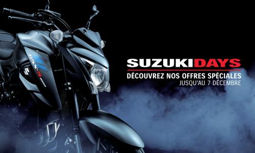 Jusqu'au 7 décembre, les Suzuki Days jouent les prolongations !