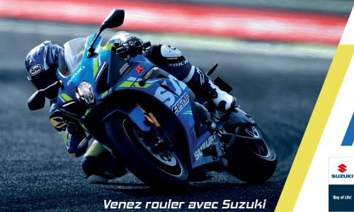 Venez rouler sur circuit avec Suzuki
