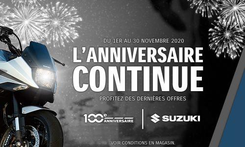 100 ans Suzuki : L'anniversaire continue !
