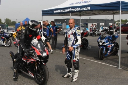 William Costes en action lors de la Suzuki Académie